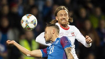En fotos: Islandia sufre otro revés en casa en la UEFA Nations League, ante Suiza