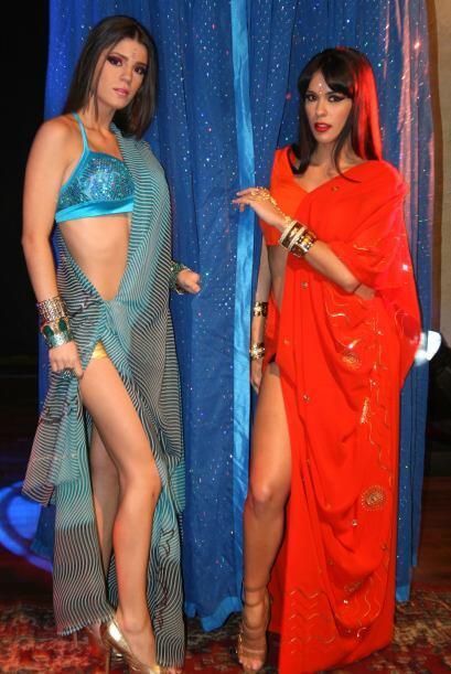 Esta vez las chicas mostraron sus curvas a través de una telas vaporosas.
