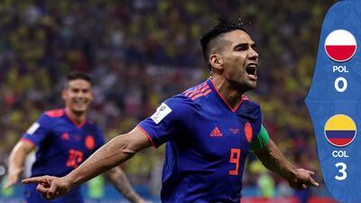 Colombia deleitó a su afición y goleó a una Polonia sin respuestas