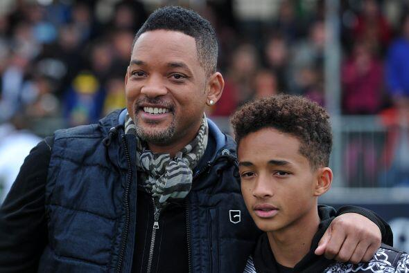 Will Smith y su hijo Jaden atendieron a varios actos de la final de Cham...