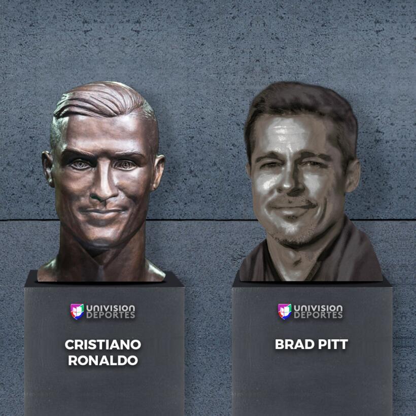El nuevo busto de Cristiano no se salvó de los divertidos memes brad-pit...
