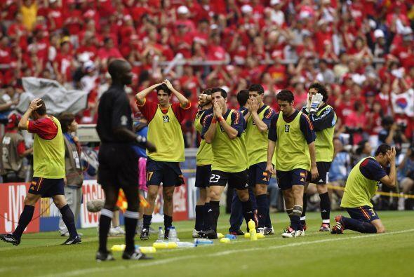 Luego Corea ganó en los penalits y sacó a España del Torneo.
