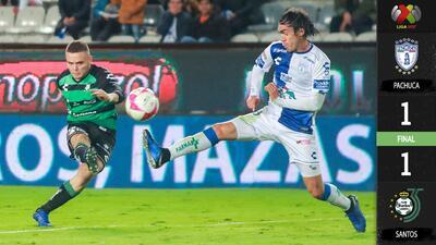 Pachuca no definió cuando pudo y Santos lo empató sobre el final