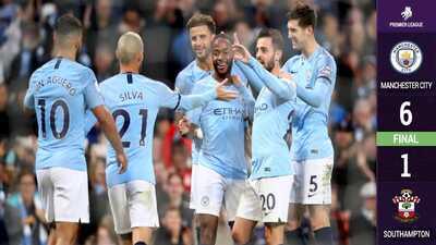 ¡Intratable! Manchester City golea a Southampton y lidera en solitario