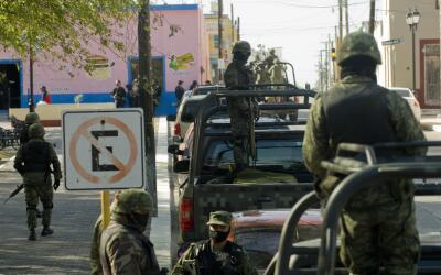 Elementos de la Marina de México realizan un operativo en el esta...
