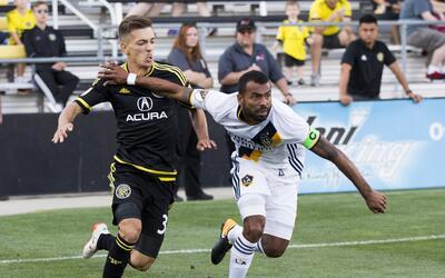 Ashley Cole, Pedro Santos LA Galaxy vs. Columbus Crew