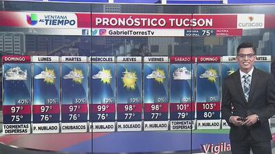 Posibilidad de tormentas dispersas para este domingo