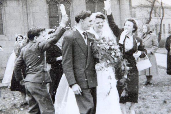 La pareja contrajo nupcias el 27 de marzo de 1954.