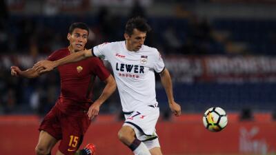 Roma derrota al Crotone con Moreno los 90 minutos