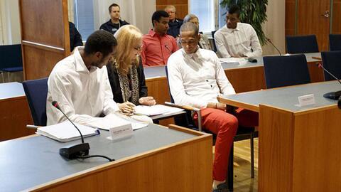 Varios miembros del equipo nacional cubano de voleibol en su presentaci&...