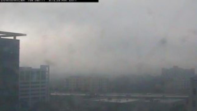 Miami amaneció llena de neblina el martes.
