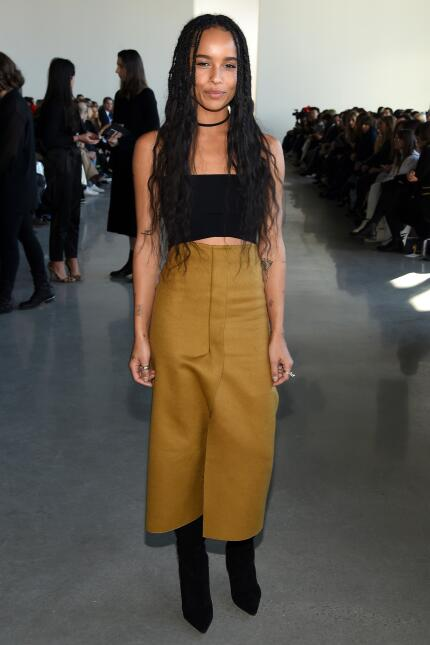Singer and actress Zoe Kravitz poses at the Calvin Klein Collection Fall...