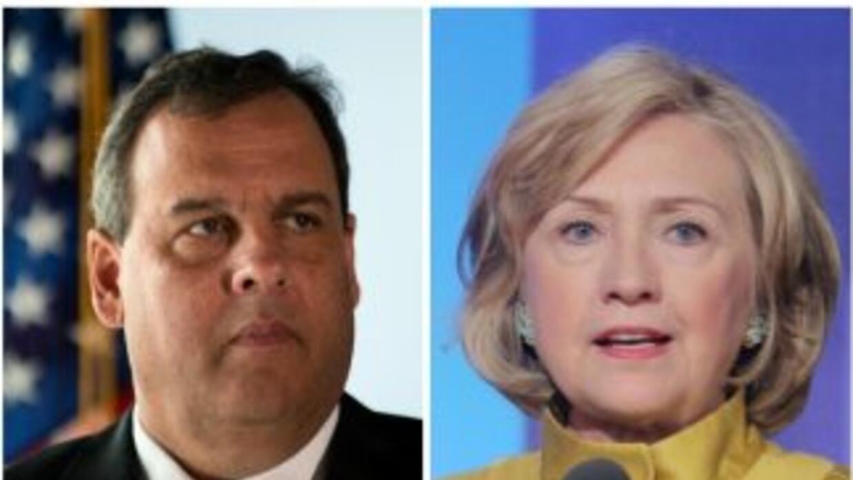 Clinton y Christie, favoritos de la prensa.