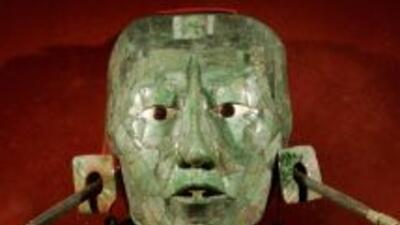 Máscara del rey Pakal, de la cultura maya.