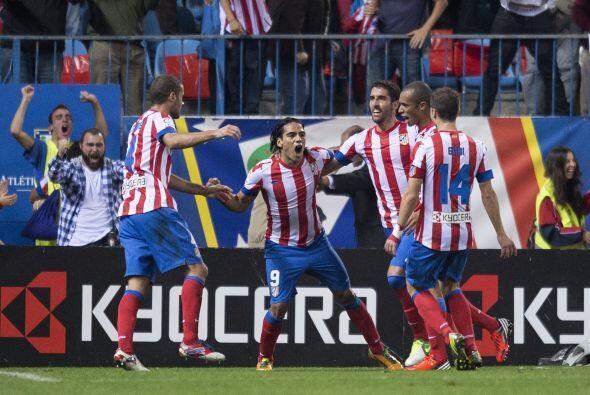 Falcao hizo dos tantos para el triunfo del Atlético de Madrid, afirmándo...