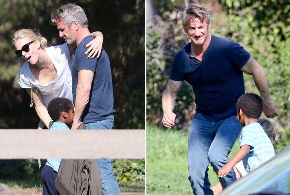 ¡Sean Penn se desvive por el hijo de Charlize!