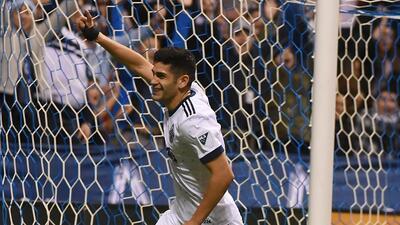 Matías Laba marcó dos goles frente a LA Galaxy.