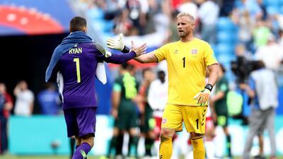 En fotos: Dinamarca y Australia se repartieron los puntos en Samara con un empate a un gol