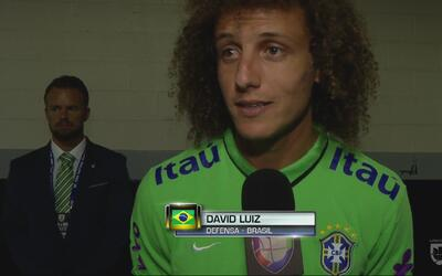 """David Luiz: """"Será un gran partido contra Estados Unidos"""""""