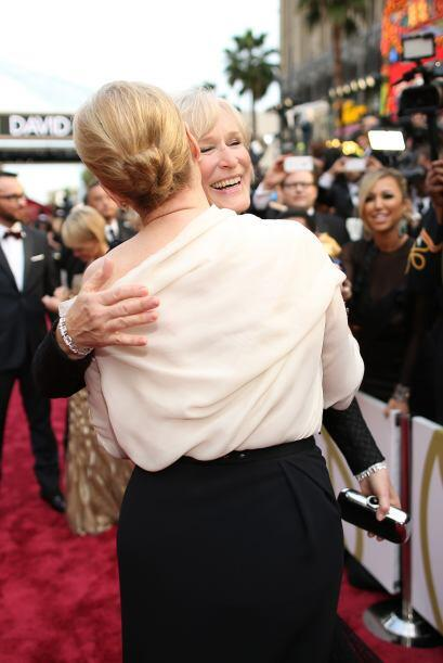 El encuentro de dos grandes amigas: Meryl Streep y Glen Close se dieron...