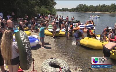 Medidas de seguridad extremas para el evento Rafting Gone Wild en el Río...