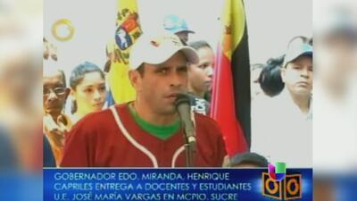 Capriles se plantea referendo para revocar el mandato de Maduro