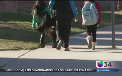 Estudiantes afectados por fuga de gas