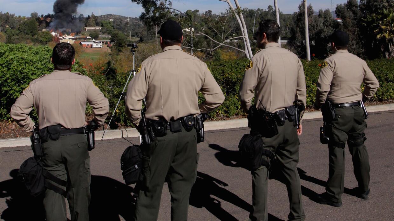 Agentes de policía de la ciudad de Escondido, en California.