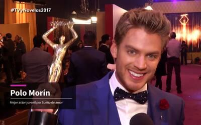 Polo Morín es el ganador de la terna 'Actor juvenil'