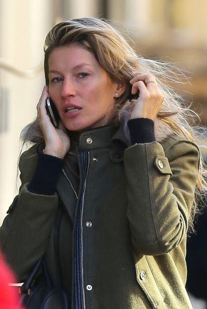 La modelo Gisele Bundchen no luce igual a como la hemos visto en algunas...
