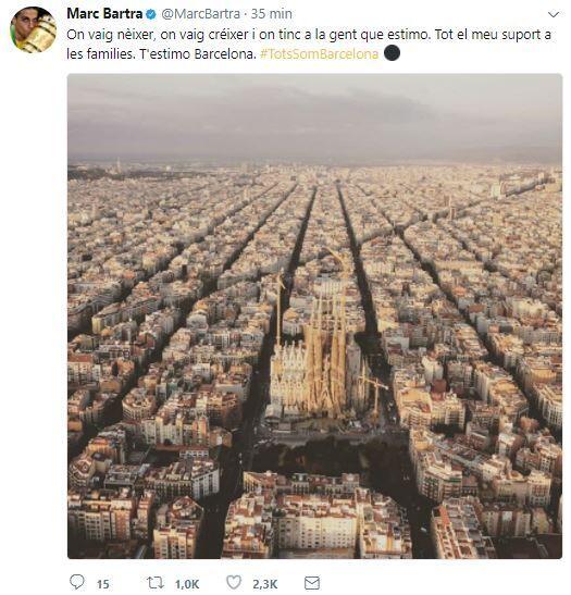 El mundo del deporte se solidariza con las víctimas de Barcelona BCN28.JPG