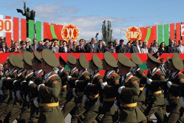 Los soldados de la autoproclamada región separatista de Moldavia Dniéste...