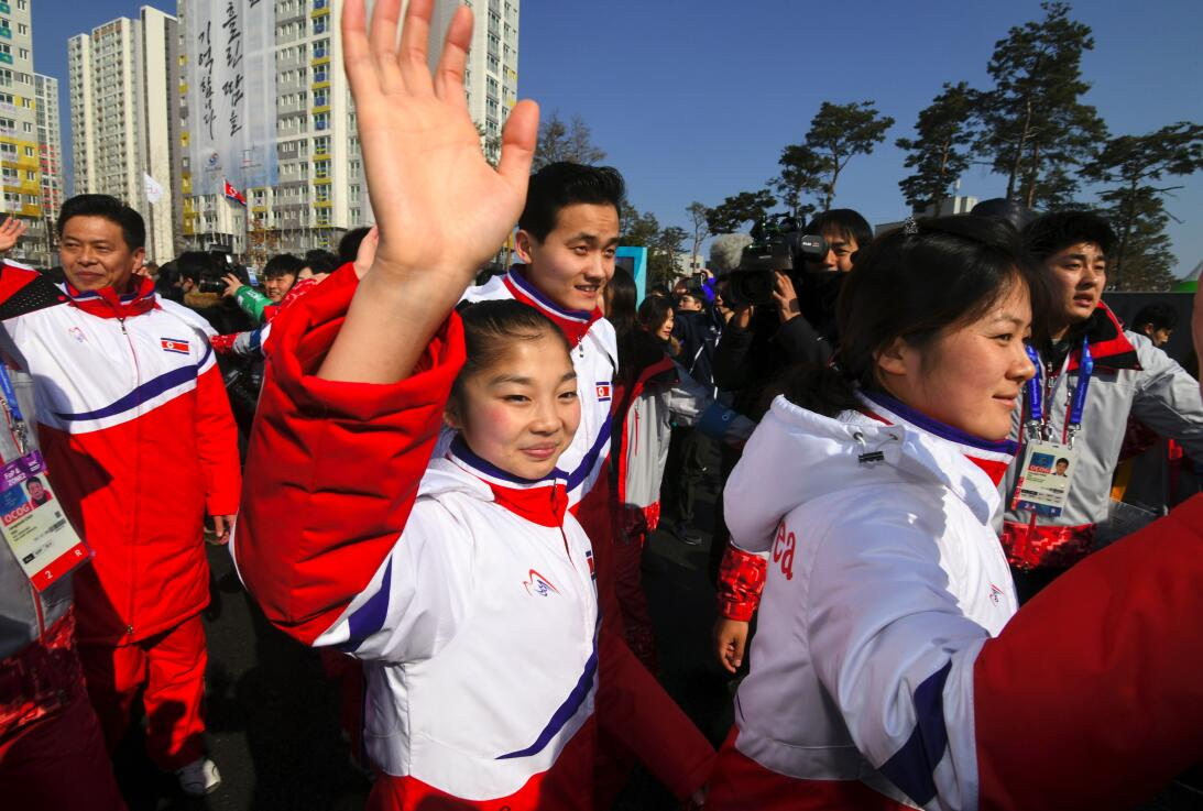 Llegada de Corea del Norte a Pyeongchang 2018 gettyimages-915599078.jpg
