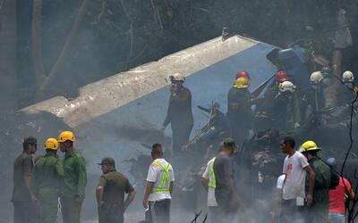 Accidente aéreo en la Habana, Cuba.