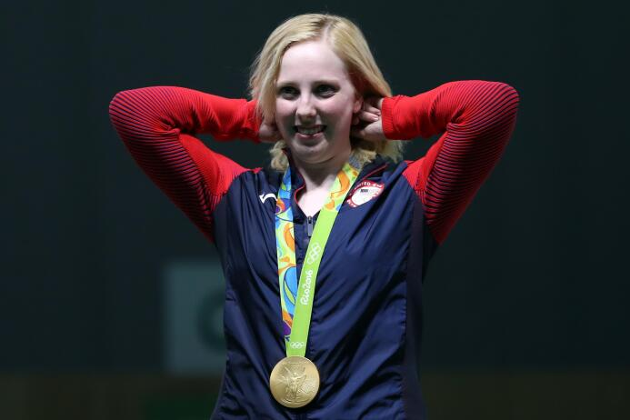 La estadounidense Virginia Thrasher logró la primera medalla de oro de l...
