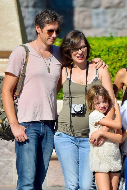Paul y Milla no dejaron de consentir en todo momento a su pequeña.