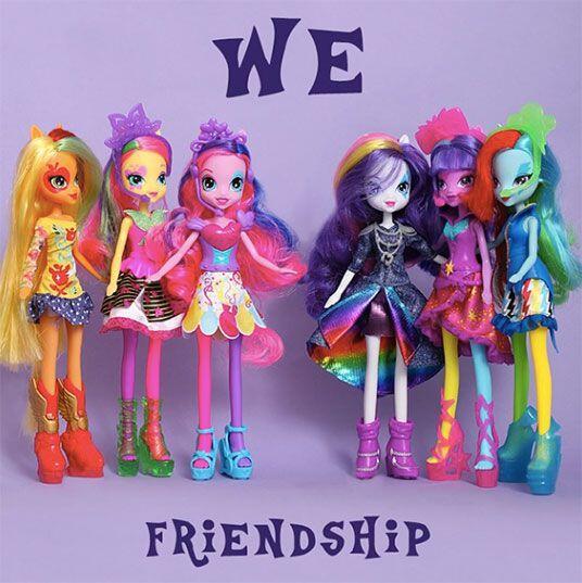 Las chicas Equestria. Las muñecas de las mejores amigas de los adorables...