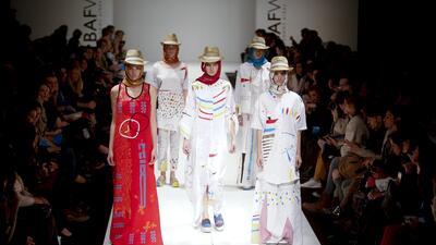 Desfile de Poty Hernández, una de las marcas independientes argentinas.