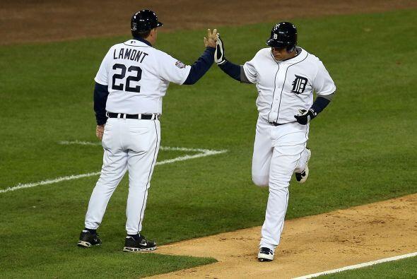 Miguel Cabrera bateó un Home Run de dos carreras que puso adelante a los...