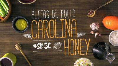 Alitas de pollo Carolina Honey #SB50 - El Recetario