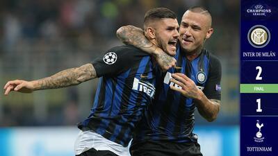 Gracias a Icardi y Vecino, Inter de Milán superó al Tottenham en casa y sin merecerlo