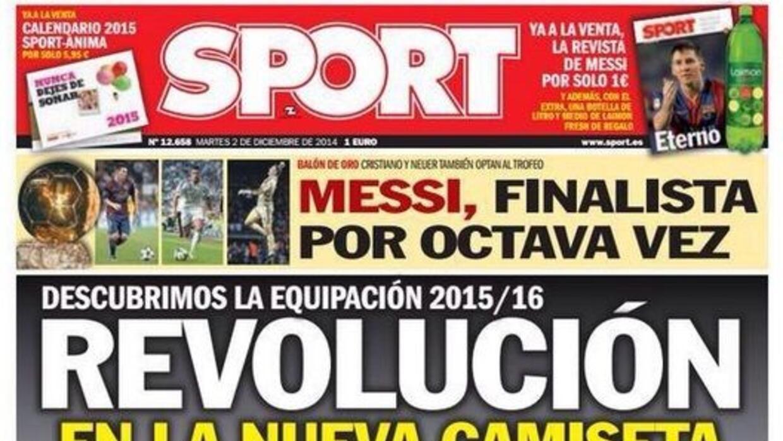 El diario 'Sport' destacó en su portada la innovación de la nueva player...