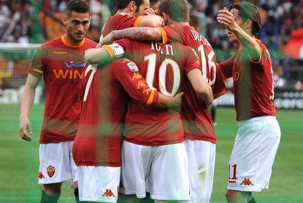 La Roma ganaba y jugaba un poco mejor que el equipo visitante.