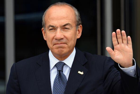 Calderón abandonó la casa.  El presidente Felipe Calderón Hinojosa confi...