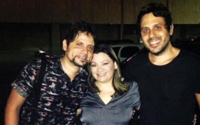 Los hermanos Servando y Florentino Primera junto a Carolina Rey, con qui...