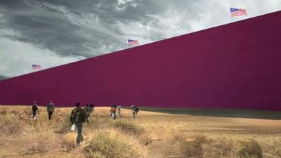 El muro de Donald Trump imaginado por arquitectos mexicanos
