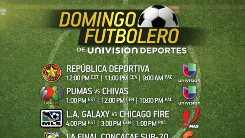 Este domingo 3 de marzo será un Domingo Futbolero.