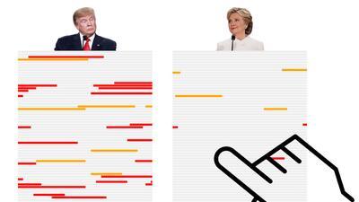 Gráfico: las mentiras de Trump y Clinton cara a cara | Tercer Debate Pre...