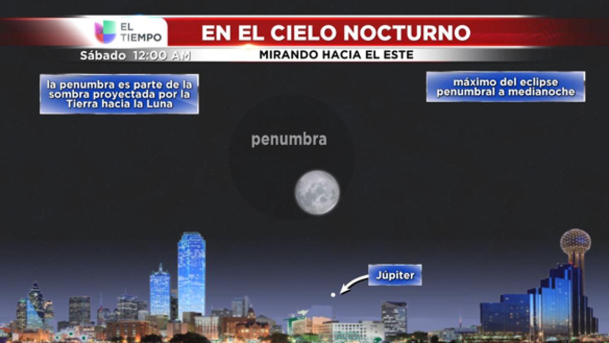 Al entrar en la penumbra la Luna se oscurecerá ligeramente.