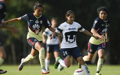 América se llevó el clásico femenil ante Pumas.
